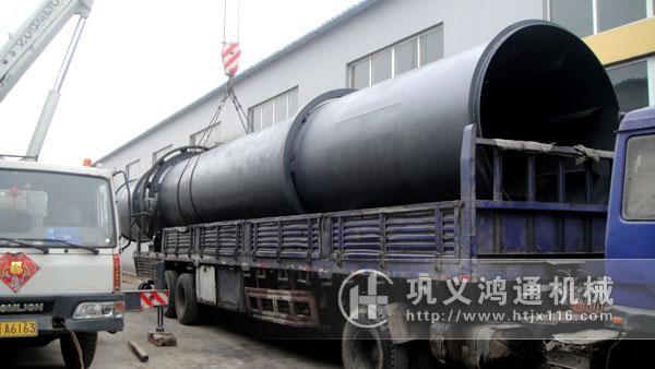 大型粉煤灰烘干机发货现场图片