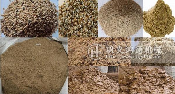 三筒沙子烘干机物料图