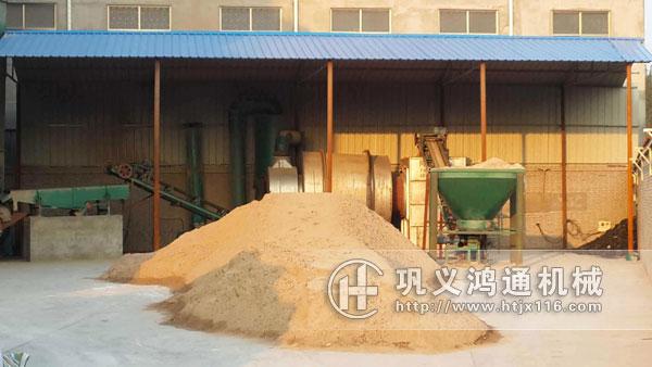 沙子烘干机生产现场