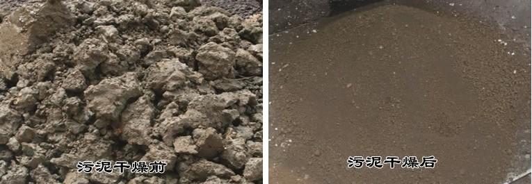 污泥烘干前后对比图