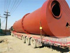3米煤泥烘干机发往东北